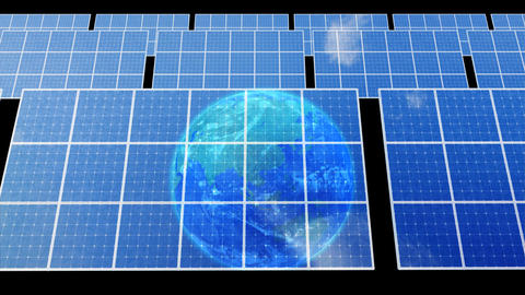 Solar Panel Earth D3B HD Animation