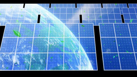 Solar Panel Earth D3CG HD Animation