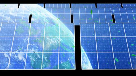Solar Panel Earth D3CG HD Stock Video Footage