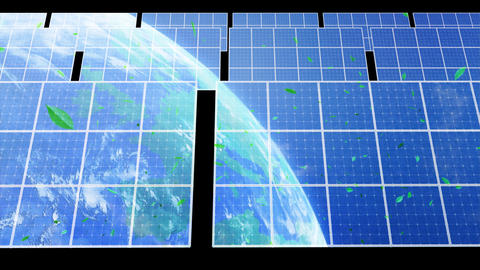 Solar Panel Earth D3CG HD Stock Video Footage