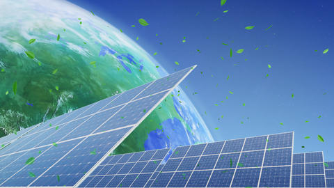 Solar Panel Earth E3G HD Animation