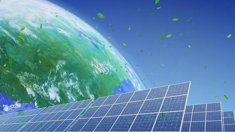 Solar Panel Earth E3G HD Stock Video Footage