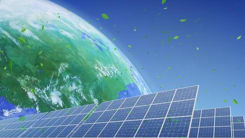 Solar Panel Earth E3G HD Stock Video Footage