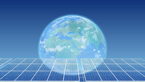 Solar Panel Earth H3B HD Stock Video Footage