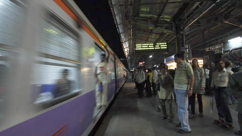 passengers awaiting metro train, delhi, india Footage