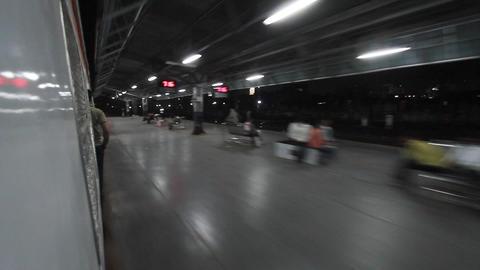 passengers awaiting metro train, delhi, india Stock Video Footage