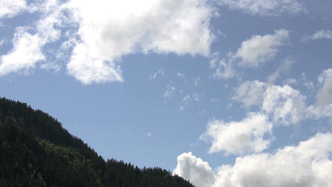 Clouds Timelapse 09 alps Stock Video Footage