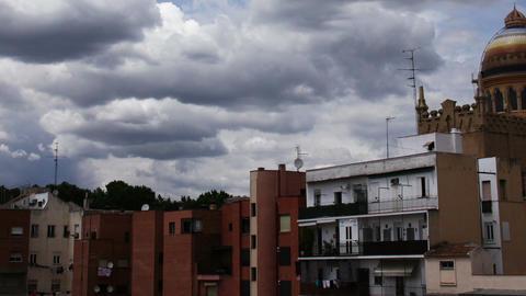 European Scene Clouds Timelapse 03 Stock Video Footage