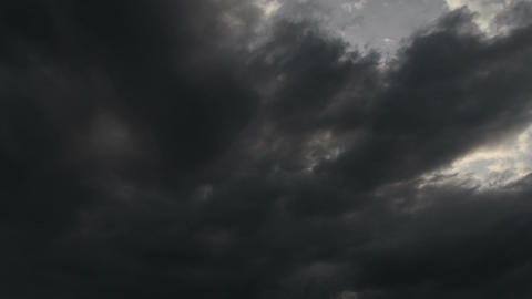 Fantastic Clouds Timelapse 03 godrays Stock Video Footage