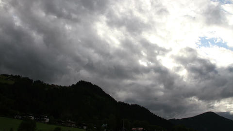 Fantastic Clouds Timelapse 07 godrays Stock Video Footage