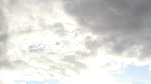 Fantastic Clouds Timelapse 11 godrays Stock Video Footage