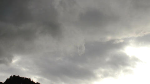 Fantastic Clouds Timelapse 13 godrays Stock Video Footage
