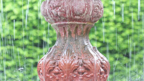 Detail of an old Fountain Footage