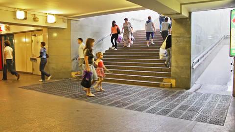 Underground passage, timelapse Footage