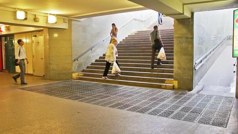 Underground passage, timelapse Stock Video Footage