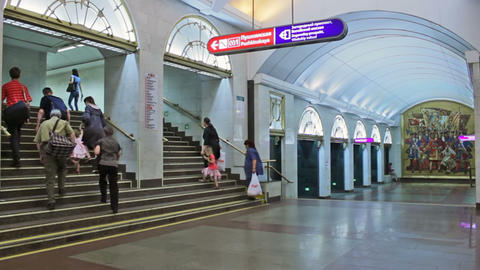 Zvenigorodskaya, timelapse, St. Petersburg, Russia Stock Video Footage