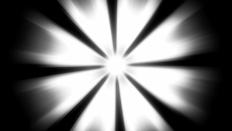 Light Beams: loopable shining star in the dark Stock Video Footage