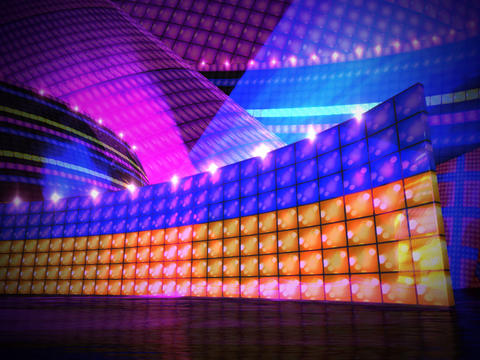 disco stage Animation