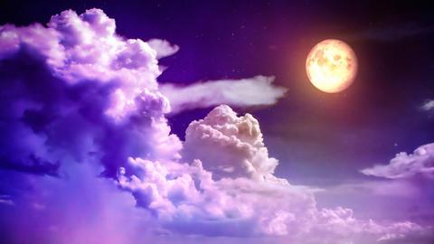 Magic night sky Stock Video Footage