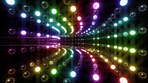 Disco Tunnel P1LA2 HD Stock Video Footage