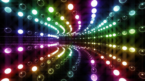 Disco Tunnel P1LA2 HD Stock Video Footage