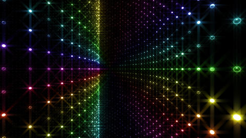 Disco Tunnel W1BA2 HD Stock Video Footage