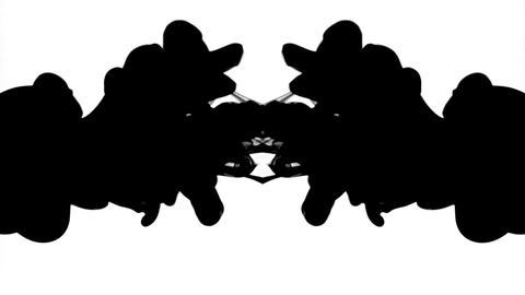 Black ink patterns Stock Video Footage