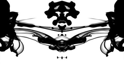 Black ink patterns Footage