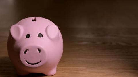 Piggy Bank Saving Stock Video Footage
