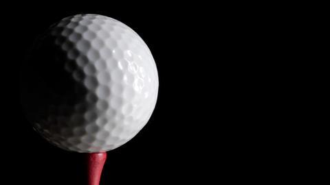 Golf Ball Loop Stock Video Footage