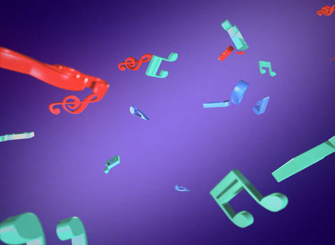 music ribbon Stock Video Footage