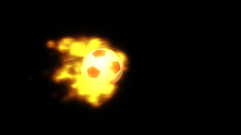 fire soccer side view with alpha Stock Video Footage
