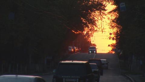 urban sunset 4 Stock Video Footage