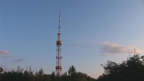 TV tower 2 Stock Video Footage