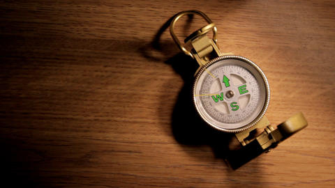 Eratic Compass Stock Video Footage