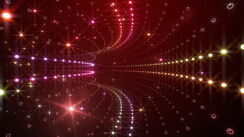 Disco Tunnel C2BA1 HD Stock Video Footage