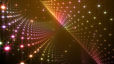 Disco Tunnel W2BC1 HD Stock Video Footage