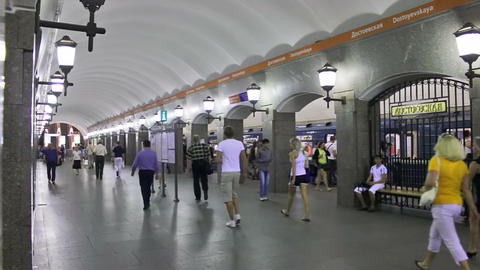 Dostoevskaya, timelapse, St. Petersburg, Russia Stock Video Footage