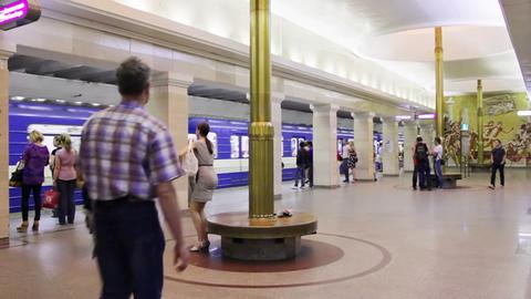 Sportivnaya, timelapse, St. Petersburg, Russia Stock Video Footage