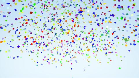 Color Paper Confetti Falling alpha Stock Video Footage