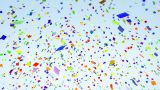 Color Paper Confetti Falling Alpha stock footage
