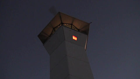 Lighthouse at Dusk Stock Video Footage
