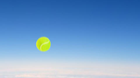 tennis ball fly up high Stock Video Footage