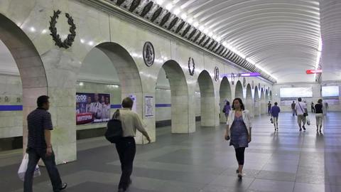 Tekhnologichesky Institut, timelapse, St. Petersbu Stock Video Footage