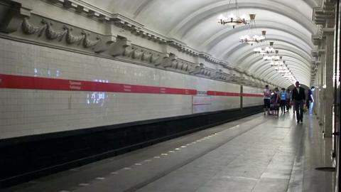 Pushkinskaya, timelapse, St. Petersburg, Russia Footage