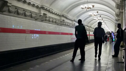 Pushkinskaya, timelapse, St. Petersburg, Russia Stock Video Footage