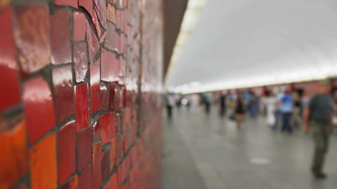 Mayakovskaya, mosaic, St. Petersburg, Russia Stock Video Footage
