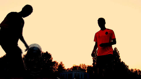 soccer sunset 3 Footage