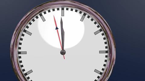 Last 5 seconds to 12 o'clock Stock Video Footage