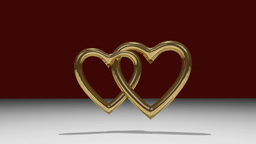 Golden hearts joined Animation